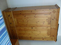 Antique Finish Solid Pine Wardrobe