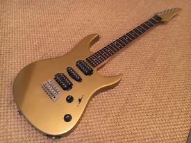 Yamaha RGX 121D electric guitar. Refinished in Nitrocellulose goldtop.