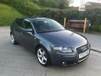 **AUDI A3 SPORT TDI 2.0 DIESEL 5 DOOR HATCHBACK GREY (2007 YEAR)IN IMMACULATE CONDITION**