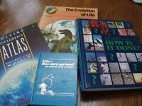 4 childrens educational hardback books.