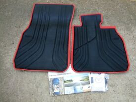 BMW Sport F30/F31 Genuine All-Weather Rubber Front Car Floor Mats.