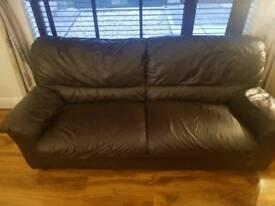Brown Leather 3-2 sofa