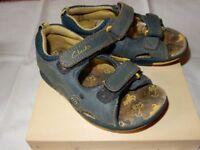 Boys Clarks Leather Sandals Size 6 Infant