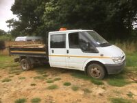 Ford transit double cab tipper spares or repairs
