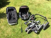Quinny Pram with car seat and accessories