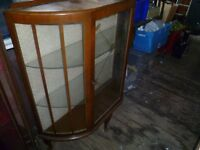 ANTIQUE LOOKING DISPLAY CABINET