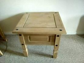 Pine corona side table