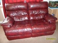 Leather Electric Reclining Two Seater Sofa