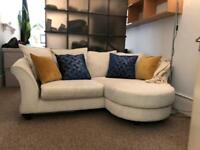 Sofa DFS Cream Chaise Sofa - Collection only