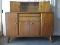 RARE EARLY VINTAGE MID CENTURY NATHAN TWO TIER SIDEBOARD DRESSER COCKTAIL CABINET FREE DELIVERY