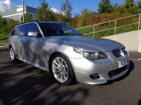 2007 BMW 5 SERIES 530D AUTOMATIC DIESEL, M SPORT, FACELIFT, LCI MODEL, SAT-NAV, FSH