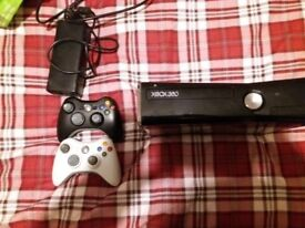 X box 360 slim 250gb 2 controllers and leads.