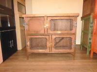 brand new 3ft 2 tier rabbit /guinea pig hutch in dark oak