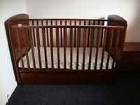 "Wooden Cot Bed with Under Bed Storage ""I Love My Bear"" (Adjusts at 3 heights)"