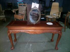 Beautiful console table with claw feet