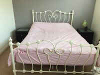 Vintage king size bed with mattress