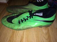 Green Nike hypervenom football boots