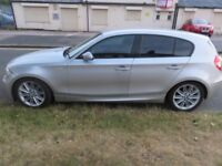 BMW 1 SERIES, M SPORT, EXCELLENT CAR AND ALL GADGETS H/SEATS L/SEATS P/GLASS ALLUMINATED DOORHANDLES