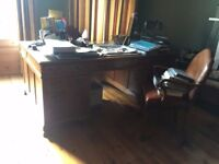 huge desk and chairs