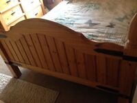 Pine bedroom furniture and bed