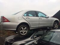 Mercedes C Class 3.2 petrol 2004 silver breaking for parts