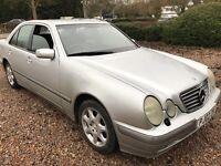 Mercedes E240 Elegance 2567cc Petrol Automatic 4 door saloon 02 Plate 05/06/2002 Silver