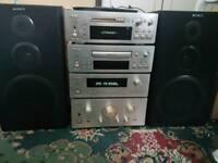 Teac stereo hifi system h500 mini disc, amp, cassette, radio