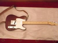 Fender telecaster Wine coloured. With case NOW REDUCED TO £300