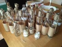 Wedding Decor/Collection of glass bottles/jars