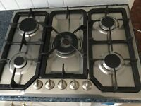 STAINLESS STEEL 5 RING GAS HOB