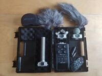 Zoom H6 audio recorder and accessories