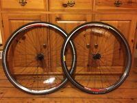 DT Swiss 2.0 ETRTO 622 x 14 road bike wheels. Plus Espoir Sport Blackbelt 700x23c tyres.