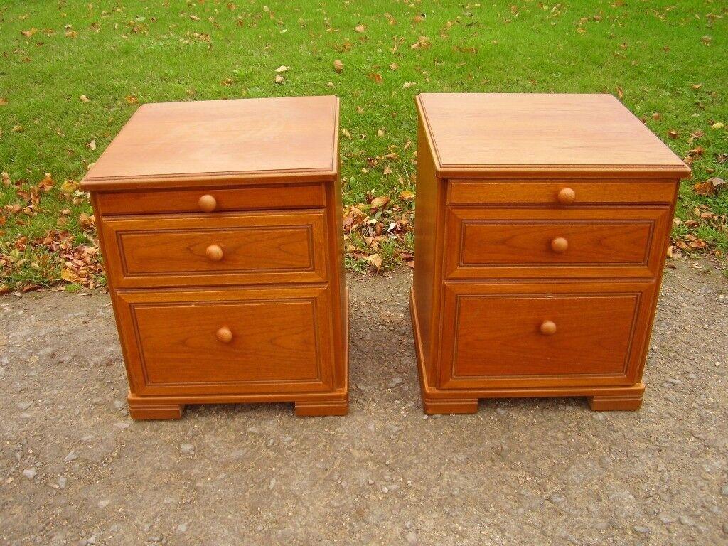 Superb Pair of STAG Retro Vintage Teak Bedside Cabinets VGC