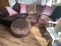 Large comfy corner sofa in excellent condition