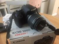 Canon EOS 500D EF-S 18-55 IS Kit Excellent Condition, Barely Used. Comes Boxed As new