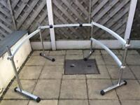 pearl drum rack 3 sided curved. 2 clamps. extra curved bar