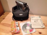 CANON MV 830, EXCELLENT CONDITION COMPLETE WITH TAPES CARRY CASE & SPARE BATTERY