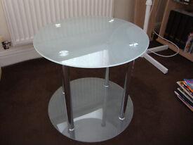Glass circular coffee/tea table
