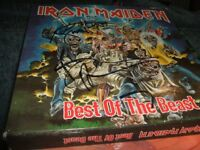 iron maiden best of the beast vinyl record box set signed very rare also other rock albums for sale
