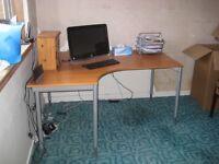 Computor Table 160 x 120 cms. Adustable Height