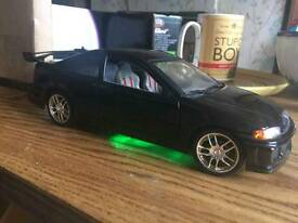 Rare Fast and furious Honda civic with neons 1.18 scale
