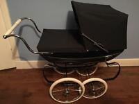 Silver Cross Oberon dolls pram navy excellent condition