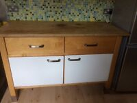 Gas hob and owen+floor cabinet+worktop+Sink cabinet+tap+splash board+ shelves