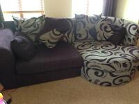 Sofa with Two Swivel Cuddle Chairs