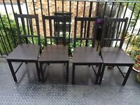 4x Black IKEA Stefan chairs - Very Good condition