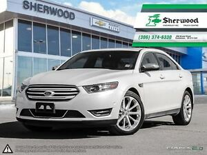 2016 Ford Taurus Limited AWD Pearl White & Only 11,000KMS!!
