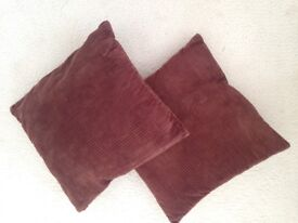 GREAT PAIR OF BROWN CHOCOLATE CUSHIONS