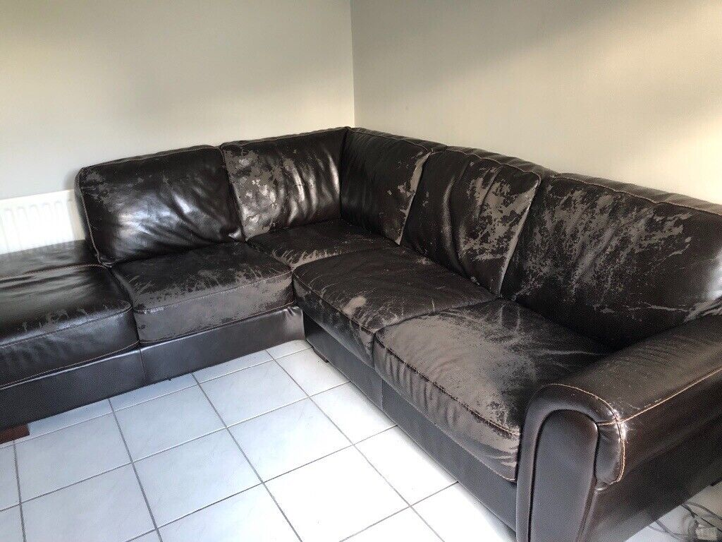 Brown leather corner settee | in Ballyclare, County Antrim ...