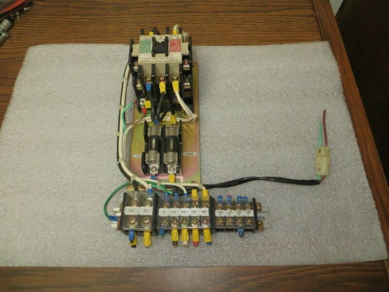Mitsubishi S-K 35 Magnetic AC Contactor Assembly as Shown Used