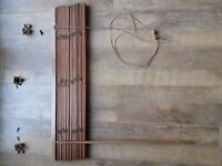 Venetian Window blind for sale (Wood) - complete with fittings. Great condition.